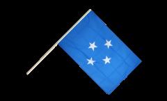 Drapeau Micronésie sur hampe