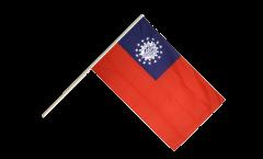 Drapeau Myanmar 1974-2010 sur hampe