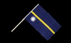 Drapeau Nauru sur hampe