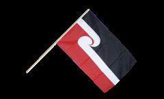 Drapeau Nouvelle-Zélande Maori sur hampe