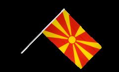 Drapeau Macédoine du Nord sur hampe