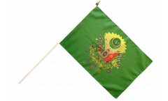 Drapeau Empire Ottoman blason sur hampe