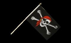 Drapeau Pirate avec foulard sur hampe