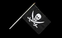 Drapeau Pirate avec deux épées sur hampe