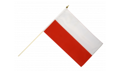 Drapeau Pologne sur hampe - 30 x 45 cm