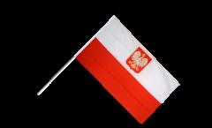 Drapeau Pologne avec aigle sur hampe