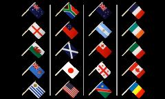 Kit Drapeaux Coupe du Monde de Rugby 2015 sur hampes - 30 x 45 cm
