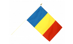 Drapeau Roumanie sur hampe