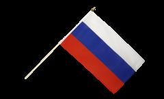 Drapeau Russie sur hampe - 30 x 45 cm