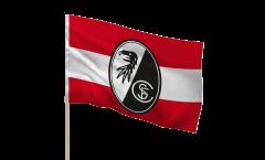 Drapeau SC Freiburg sur hampe