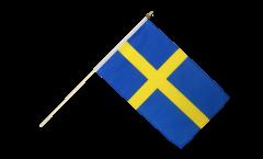 Drapeau Suède sur hampe - 30 x 45 cm