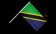 Drapeau Tanzanie sur hampe