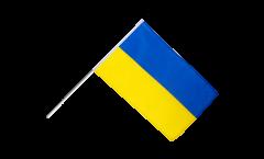 Drapeau Ukraine sur hampe