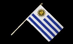 Drapeau Uruguay sur hampe