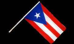 Drapeau USA US Puerto Rico sur hampe