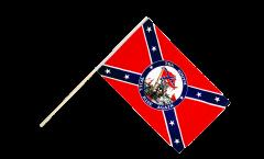 Drapeau confédéré USA Sudiste South will rise again sur hampe