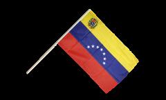 Drapeau Venezuela 7 Etoiles avec blason 1930-2006 sur hampe
