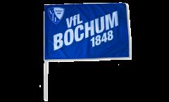 Drapeau VfL Bochum blau sur hampe