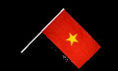 Drapeau Viêt Nam Vietnam sur hampe