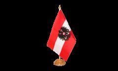 Drapeau de table Autriche avec aigle