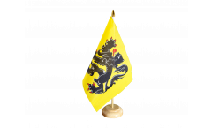 Drapeau de table Belgique Flandre