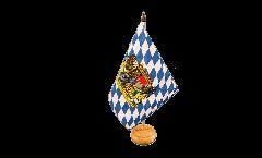 Drapeau de table Bavière avec Lion