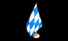 Drapeau de table Allemagne Bavière sans blason