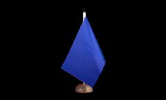 Drapeau de table Unicolore Bleu
