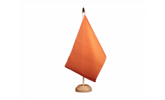 Drapeau de table Unicolore Orange