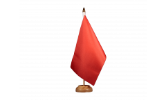 Drapeau de table Unicolore Rouge