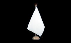 Drapeau de table Unicolore Blanc