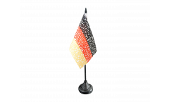 Drapeau de table supporteur Allemagne Hymne national, mini drapeau - 10 x 15 cm