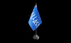 Drapeau de table supporteur Grèce HELLAS!, mini drapeau - 10 x 15 cm