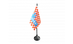 Drapeau de table supporteur Croatie HRVATSKA!, mini drapeau - 10 x 15 cm