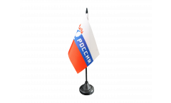 Drapeau de table supporteur Russie Rossiya, mini drapeau - 10 x 15 cm
