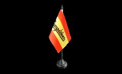 Drapeau de table supporteur Espagne Campeones, mini drapeau - 10 x 15 cm