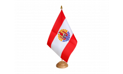 Drapeau de table France Polynésie française