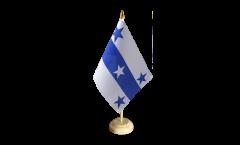 Drapeau de table France Polynésie francaise Îles Gambier
