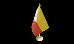 Drapeau de table France Polynésie francaise Îles Marquises