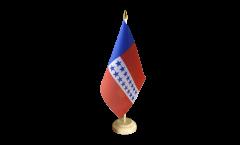 Drapeau de table France Polynésie francaise Archipel des Tuamotu