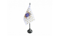 Drapeau de table France Royaume 987 - 1791, mini drapeau - 10 x 15 cm