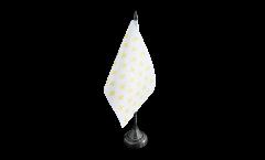 Drapeau de table France Fleur-de-Lys, blanc, mini drapeau - 10 x 15 cm