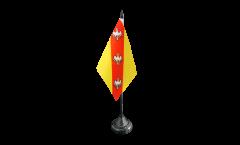 Drapeau de table France Lorraine 2, mini drapeau - 10 x 15 cm