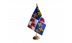 Drapeau de table France Picardie
