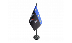 Drapeau de table France Tours, mini drapeau - 10 x 15 cm