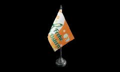Drapeau de table Frohe Ostern orange lapin de Pâques