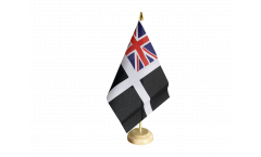 Drapeau de table Royaume-Uni St. Piran Cornwall Ensign