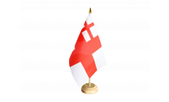 Drapeau de table Royaume-Uni White Ensign 1702-1707