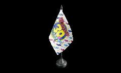 Drapeau de table Happy Birthday 30
