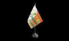 Drapeau de table Joyeuses Pâques, mini drapeau - 10 x 15 cm